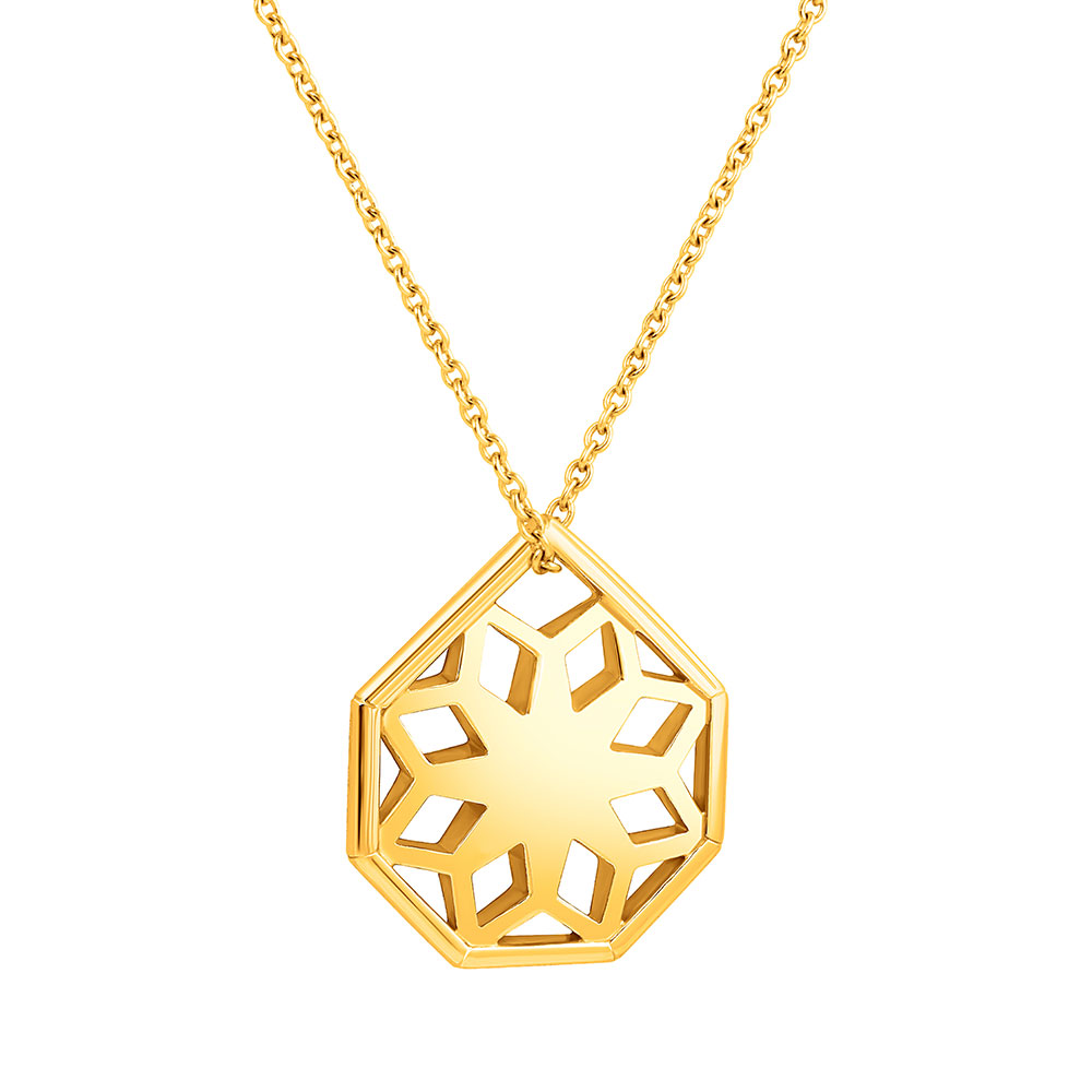 Rayonnant Pendant in yellow gold