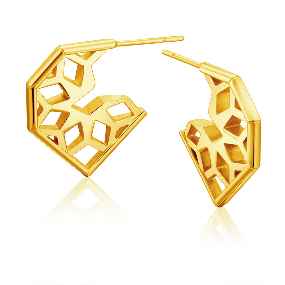 Rayonnant Earrings in yellow gold